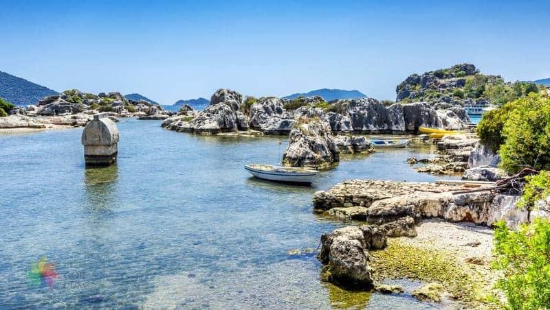 kaş gezilecek yerler Kaleköy Limanı