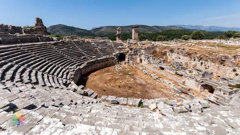 kaş gezilecek yerler Xanthos Antik Kenti